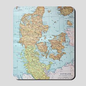 Vintage Map of Denmark (1905)  Mousepad