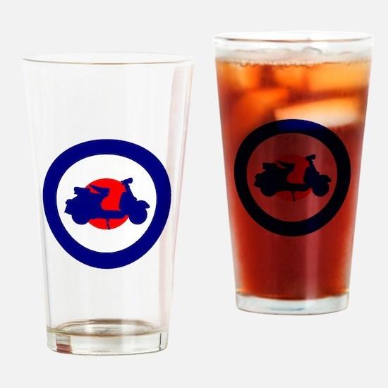 Mod Bulls Eye Drinking Glass