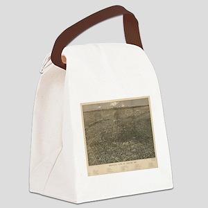 Vintage Pictorial Map of Denver C Canvas Lunch Bag