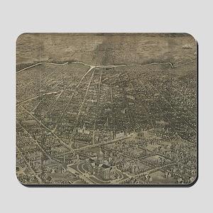 Vintage Pictorial Map of Denver Colorado Mousepad