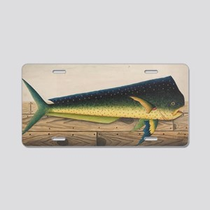 Mahi-Mahi Fish artwork Aluminum License Plate