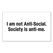 Anti-Social - Rectangle Sticker