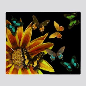 Butterfly Gardens Throw Blanket