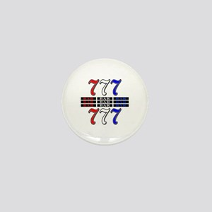 Red, White and Blue Slots Mini Button