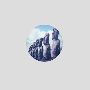 Easter Island Statues Mini Button