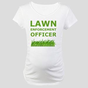Lawn Officer Green Maternity T-Shirt