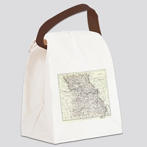 Vintage Map of Missouri (1883) Canvas Lunch Bag