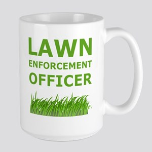 Lawn Officer Green Mugs