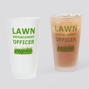 Lawn Officer Green Drinking Glass