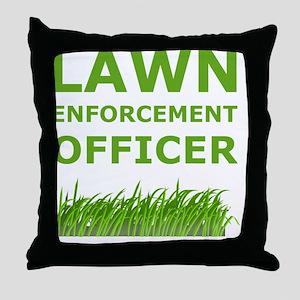 Lawn Officer Green Throw Pillow