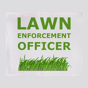 Lawn Officer Green Throw Blanket