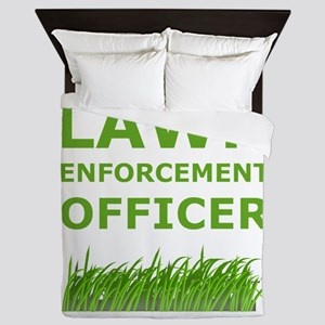 Lawn Officer Green Queen Duvet