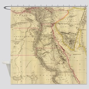 Vintage Map of Egypt (1832)  Shower Curtain