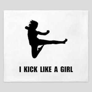 Kick Like A Girl King Duvet