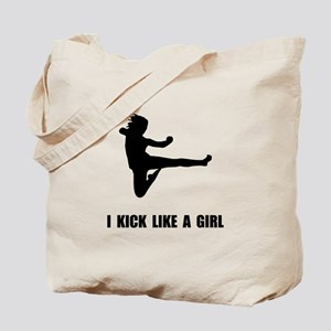 Kick Like A Girl Tote Bag