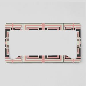 Art Deco Geometrics License Plate Holder