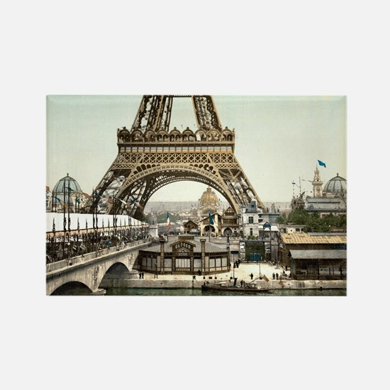 Base of The Eiffel Tower Rectangle Magnet