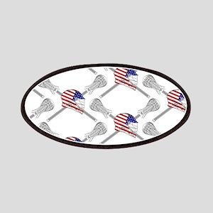 American Flag Lacrosse Helmet Pattern Patch