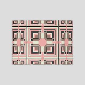 Art Deco Geometrics 5'x7'Area Rug