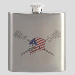 American Flag Lacrosse Helmet Flask