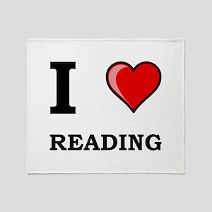 I Heart Reading Throw Blanket