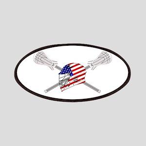 American Flag Lacrosse Helmet Patch