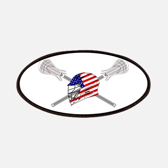 American Flag Lacrosse Helmet Patch