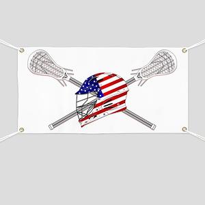 American Flag Lacrosse Helmet Banner