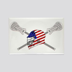 American Flag Lacrosse Helmet Magnets