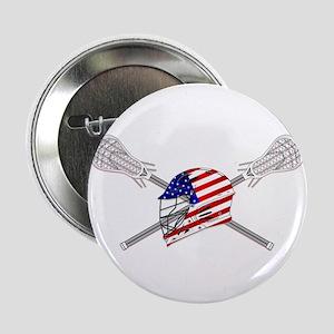 "American Flag Lacrosse Helmet 2.25"" Button"