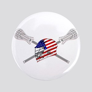 American Flag Lacrosse Helmet Button