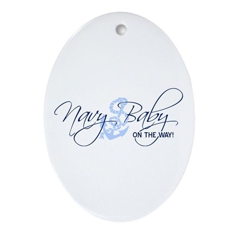 Navy baby on the way oval ornament by allmylove - Ornament tapete weiay ...