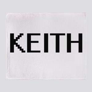 Keith digital retro design Throw Blanket
