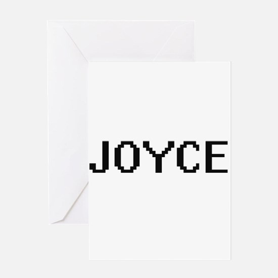 Joyce digital retro design Greeting Cards
