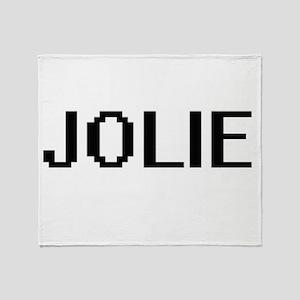 Jolie digital retro design Throw Blanket