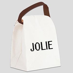 Jolie digital retro design Canvas Lunch Bag