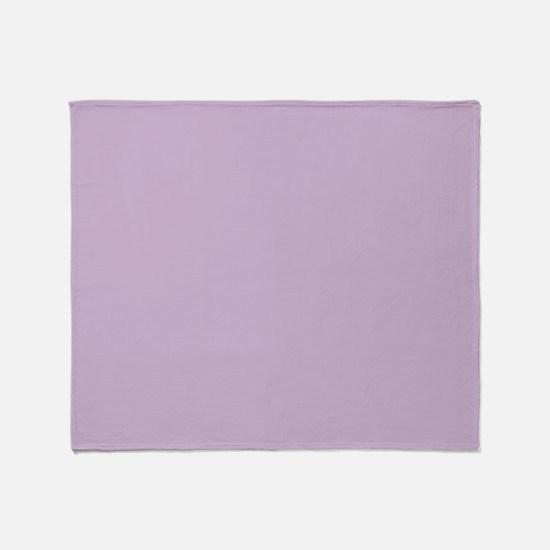 Solid Lavender Throw Blanket
