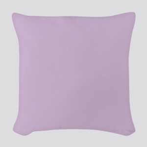 Solid Lavender Woven Throw Pillow