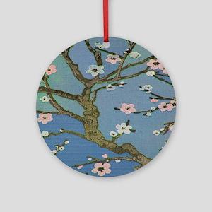 Cherry Blossom Tree Round Ornament