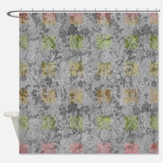 Brown And Gray Shower Curtain. Classical Style Shower Curtain Brown Gray Tan Charcoal Cream Colors Curtains  CafePress