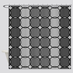 Gray Pebbles Shower Curtain