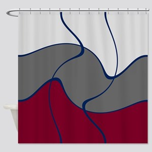 Red Graymont Shower Curtain