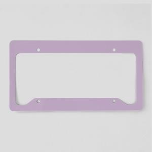 Solid Lavender License Plate Holder
