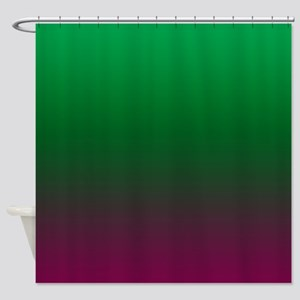 Green And Violet Tones Shower Curtain