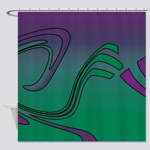 Green Violet Shower Curtain