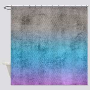 Rustic Blue Shower Curtain