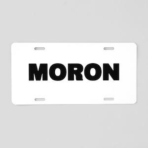 Moron Aluminum License Plate