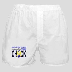 CFS MessedWithWrongChick1 Boxer Shorts