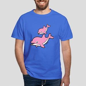 Pink Dolphins Dark T-Shirt