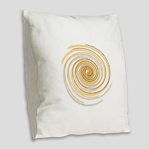 Pi Swirl Burlap Throw Pillow